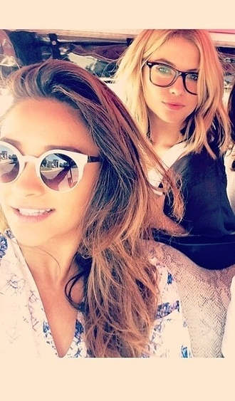 sunglasses shay mitchell black white pretty little liars