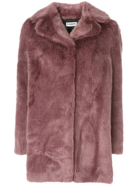 ESSENTIEL ANTWERP coat faux fur coat fur coat fur faux fur women purple pink