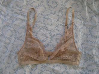 underwear calvin klein lingerie sexy lingerie lace lace bra triangle triangle bra triangle bralette nude sheer dress