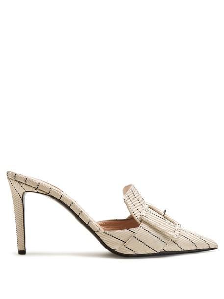 Altuzarra mules white shoes