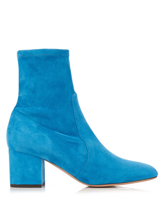 suede ankle boots boots ankle boots suede blue shoes