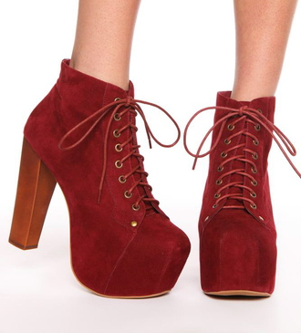shoes reddish red jeffrey campbell lita platform heels on gasoline