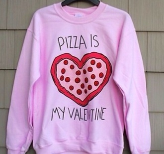shirt pizza t-shirt pizza pink by victorias secret pink red lace indie floral hippie hipster h&m goth hipster grunge soft grunge 90s grunge cute tumblr tumblr girl girly vans converse high heels high waisted shorts high top sneakers high-low dresses vintage sweater fashion funny love heart sweatshirt style heart sweater