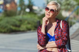 gvozdishe blogger pajamas jacket shorts shoes sunglasses