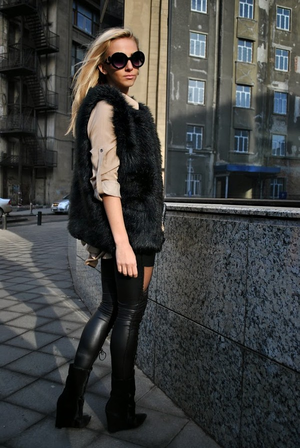 let's talk about fashion ! jacket blouse sunglasses shoes bag jewels