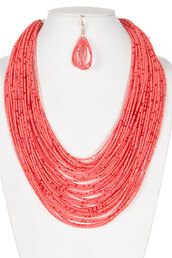 jewels,necklace and earrings combo,bead seed