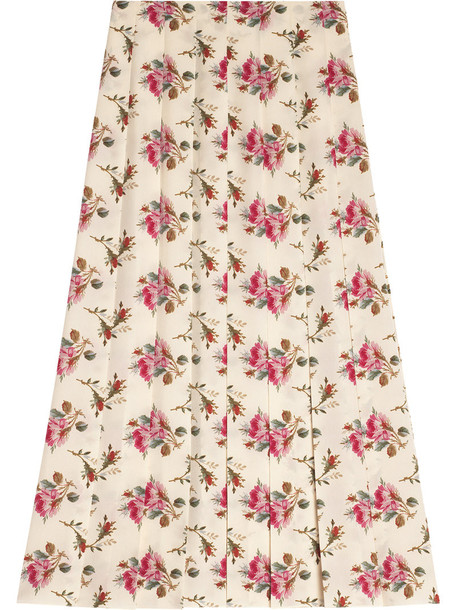 gucci skirt rose women print silk purple pink