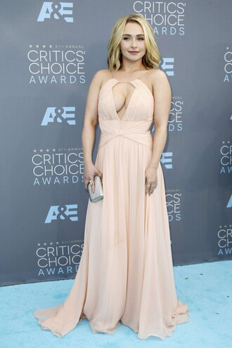dress gown prom dress long prom dress nude hayden panettiere