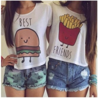 shirt girly girl girly wishlist best friend shirts best friends top bestfriend shirt white t-shirt