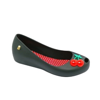 shoes mel by melissa jelly flats cherry