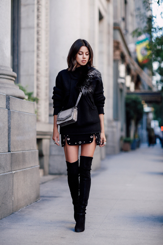 viva luxury blogger shoes bag skirt sweater jewels silk skirt