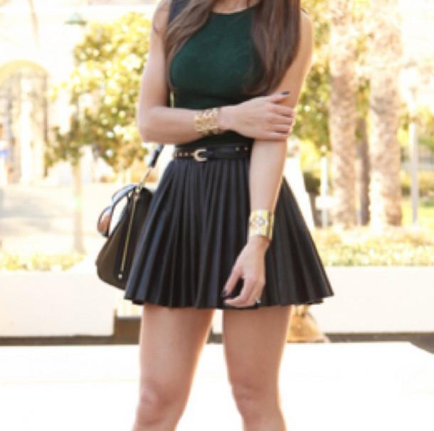 Skirt leather black belt studs black leather bag shirt for Black studs for dress shirt