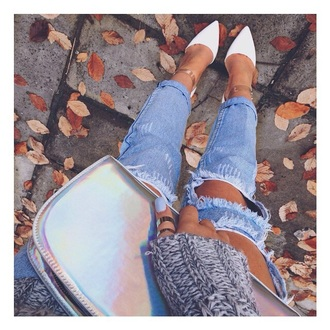 jeans sweater shoes bag