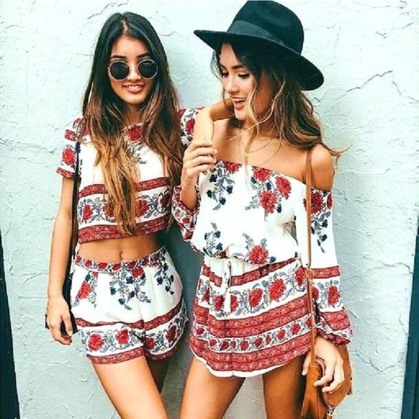 a67390851d39 jumpsuit white floral floral dress preppy roses roses sexy sexy party romper  print summer summer romper