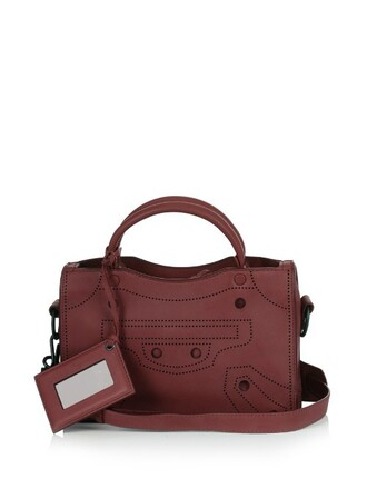 cross mini bag leather burgundy