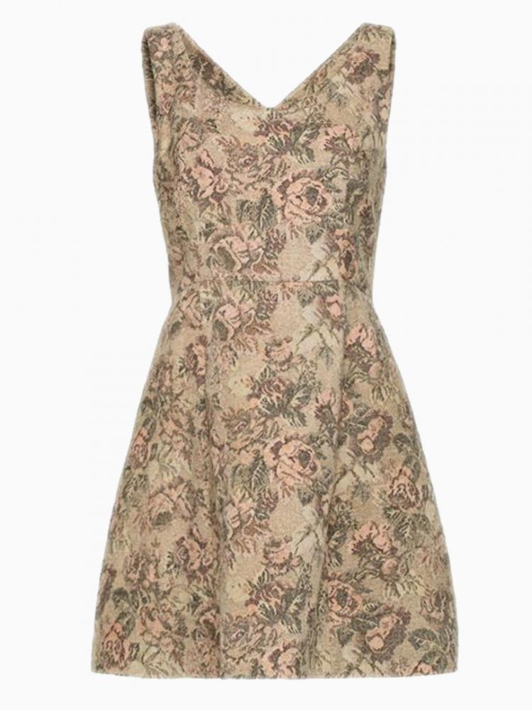 Luxurious Floral A-Line Dress | Choies
