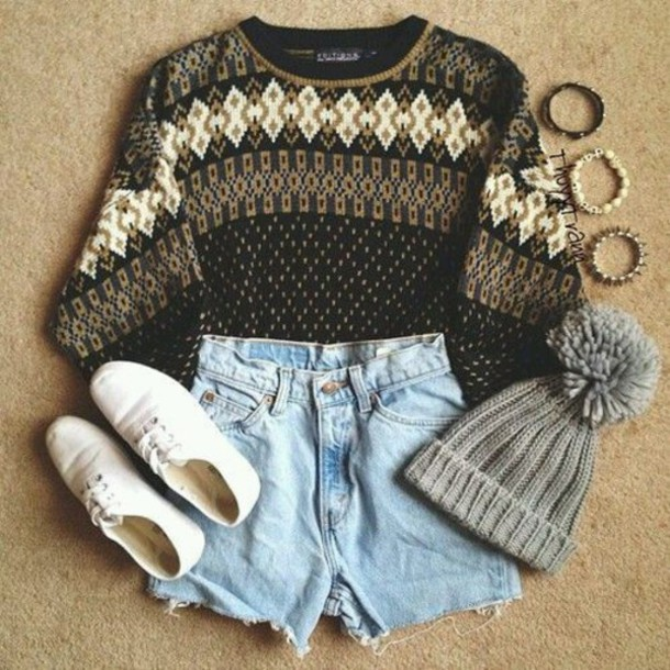 sweater hat shoes