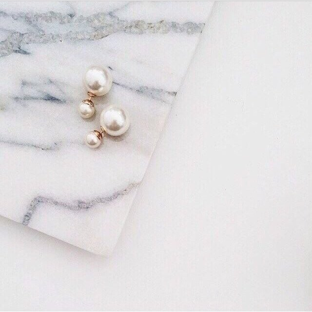 Double pearl earrings Dior inspired • brand new free shipping ...