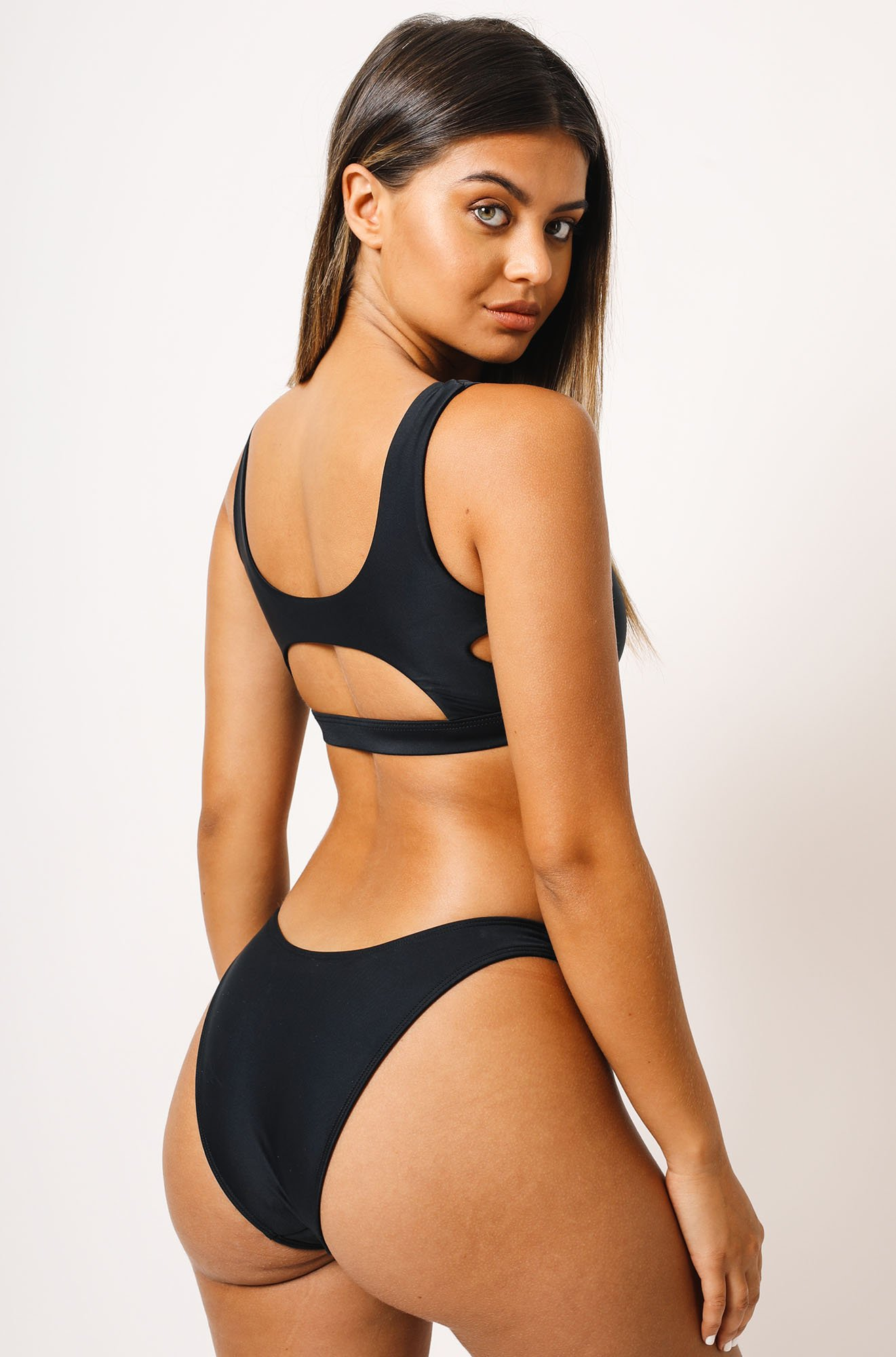 Abby Bikini Top in Black