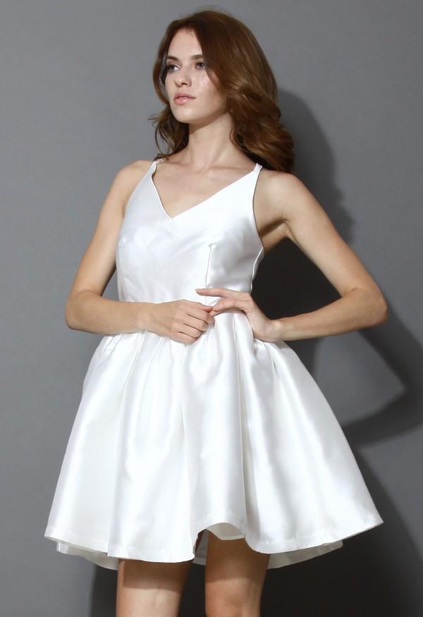 chicwish cross back mini dress dress