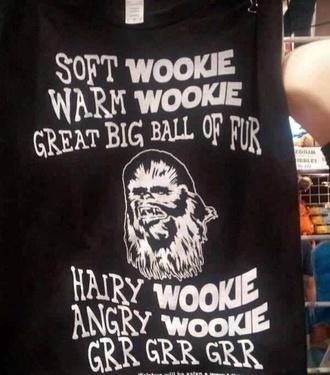 tank top chubaka chewbacca star wars t-shirt graphic tee