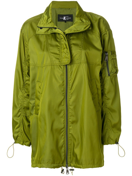 Luisa Cerano jacket zip up jacket zip women green