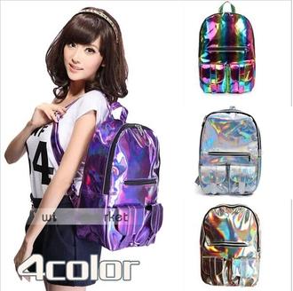 bag holographic bag harajuku shoulder school bag