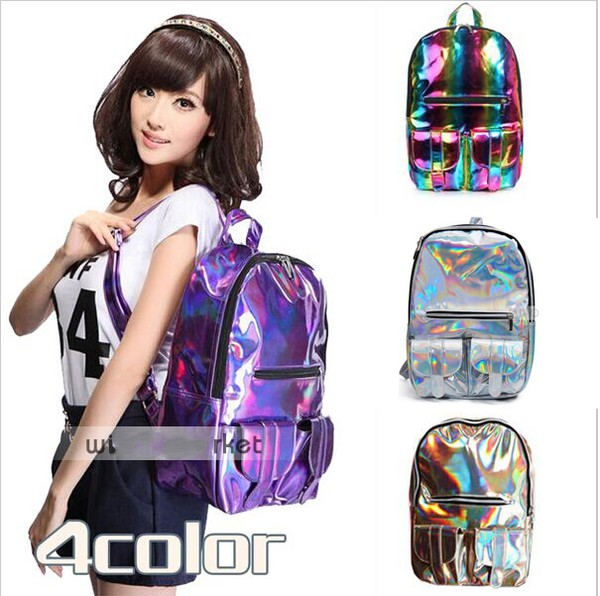 bag holographic bag harajuku shoulder school bag