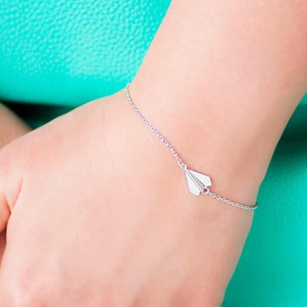 jewels chains bracelet paper planes