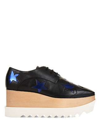 shoes platform shoes lace blue black