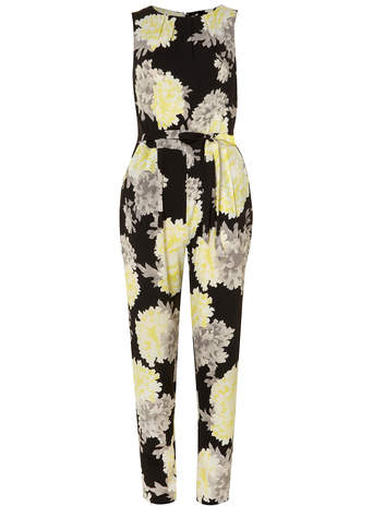 Yellow floral jumpsuit - Summer Favourites - Clothing - Dorothy Perkins
