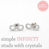 jewels,jewelry,earrings,infinity,infinity earrings,infinite,forever,anniversary gift,wedding