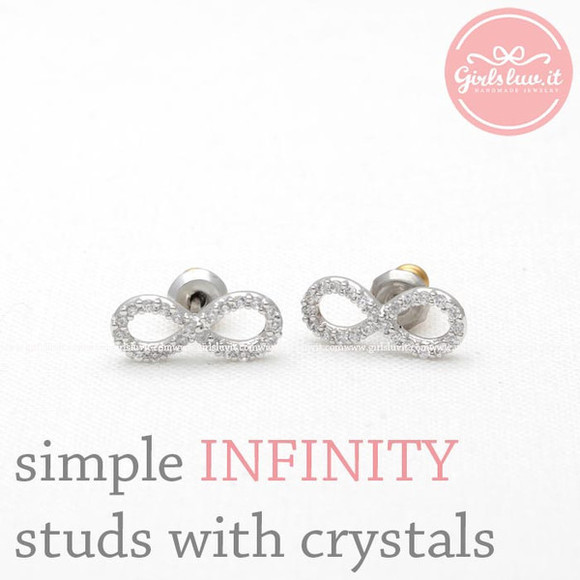 jewels forever jewelry earrings infinity infinity earrings infinite anniversary gift wedding