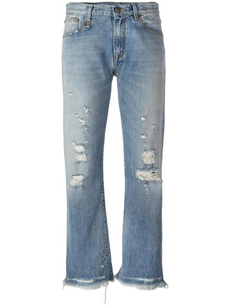 jeans ripped jeans women ripped cotton blue 24