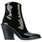 A.f.vandevorst - slanted heel ankle boots - women - calf leather/leather - 38, black, calf leather/leather