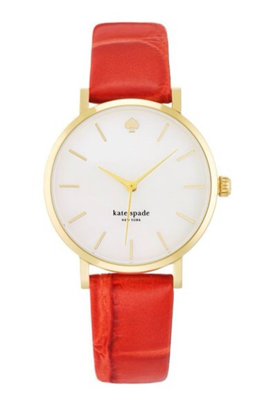 red jewels kate spade watch