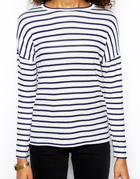 Daisy Street | Daisy Street Slubby T Shirt in Stripe at ASOS