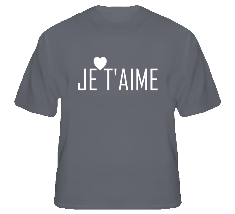 Je T'Aime Beyonce Charcoal Grey T Shirt