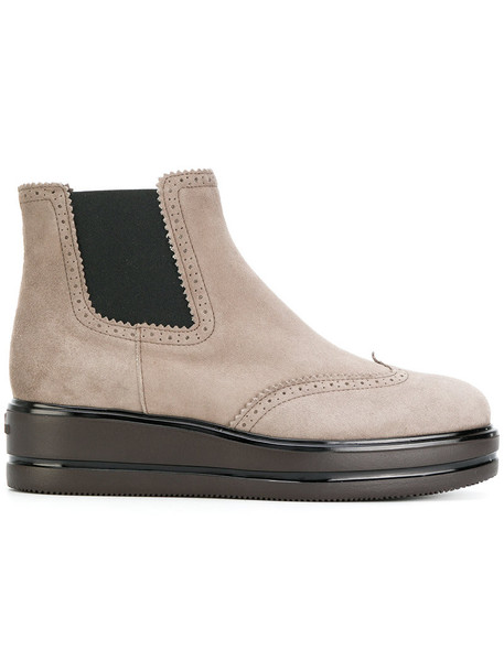 Hogan women suede grey shoes