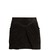 Pleat-detail suede mini skirt