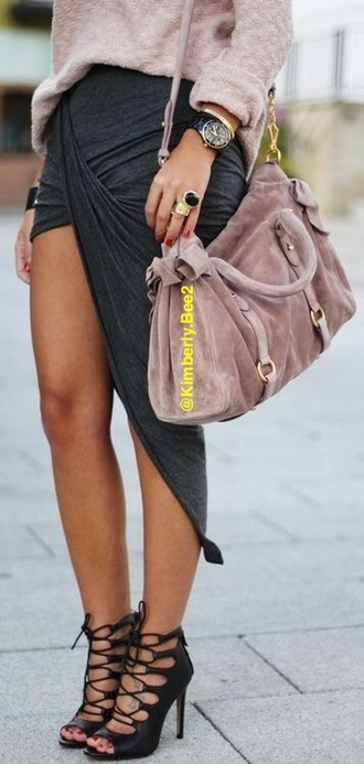 skirt sexy bodycon draped