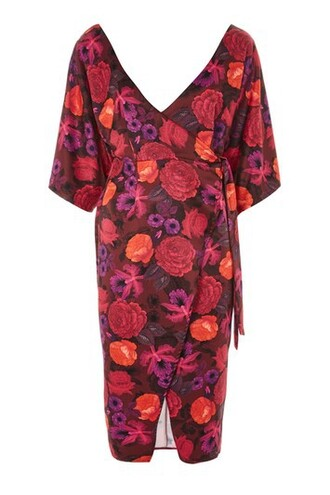 dress wrap dress floral wrap dress floral burgundy