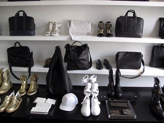 shoes studded white black