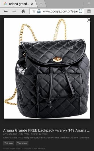 bag black leather bag coach black quilted bag backpack
