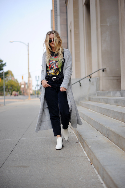 white ankle boots with jeans
