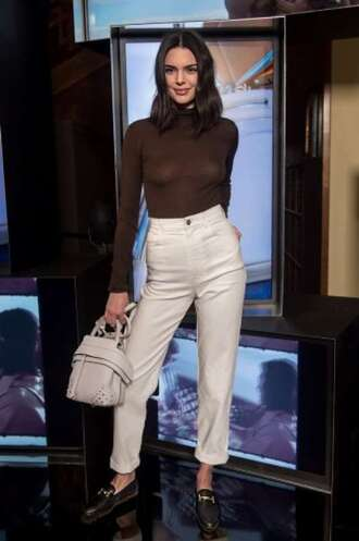 bag pants sweater top fall outfits model kendall jenner kardashians