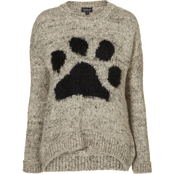 Knitted Paw Motif Jumper - Polyvore
