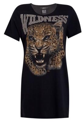 Camiseta Colcci Boy Hotfix Leopardo Preta - Compre Agora | Dafiti