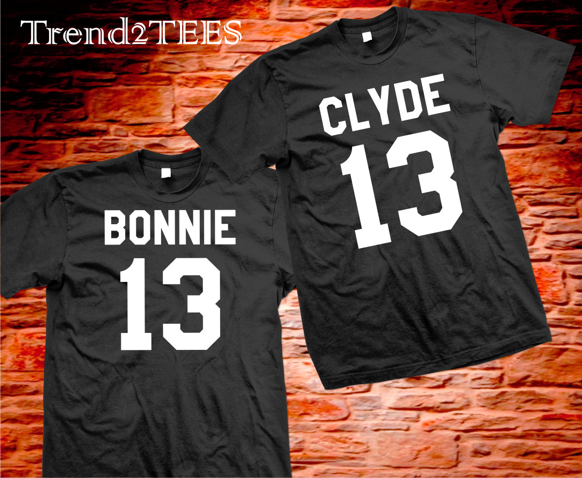 T-shirts Bonnie and Clyde, Couple shirts Bonnie and Clyde
