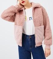 jacket,girly,girl,girly wishlist,pink,zip,zip-up,zip up jacket,cute